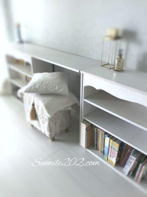 イケアの本棚リメイク 飾り板