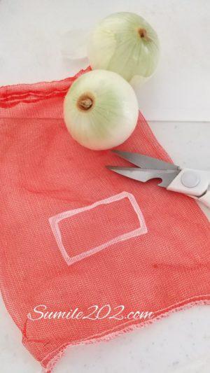 玉ねぎなど野菜のネットの活用法 リメイク 使い道