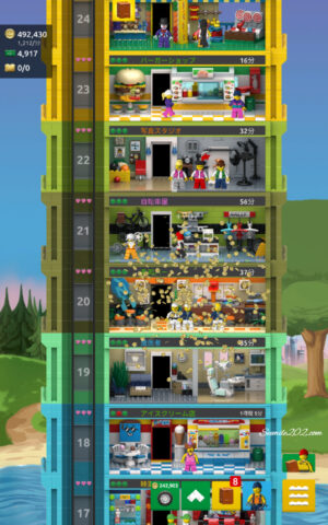 アプリゲーム「レゴ タワー」の遊び方。攻略